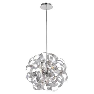 Artcraft Lighting Bel Air 18-in Chrome 5-Light Chandelier