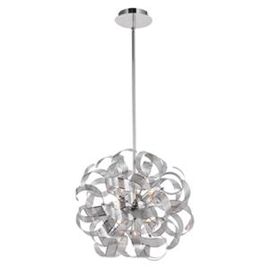 Artcraft Lighting Bel Air 24-in Chrome 12-Light Chandelier