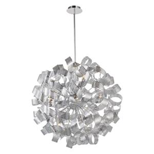 Artcraft Lighting Bel Air 34-in Chrome 12-Light Chandelier