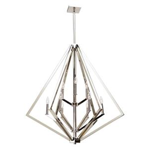 Artcraft Lighting Breezy Point 36-in Polished Nickel 9-Light Chandelier