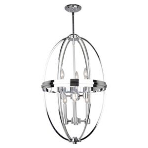Artcraft Lighting Roxbury 19.5-in Chrome 6-Light Chandelier