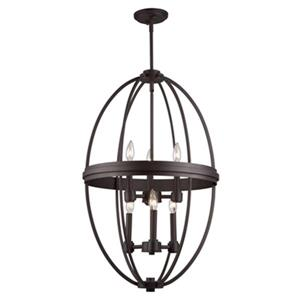 Artcraft Lighting Roxbury 19.5-in Oil Rubbed Bronze 6-Light Chandelier
