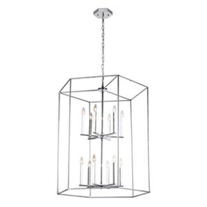 Artcraft Lighting Modern Elegance 31.5-in Chrome 12-Light Chandelier