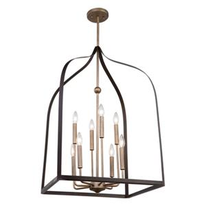Artcraft Lighting Worthington 8-Light Chandelier - Bronze and Gold