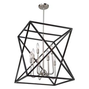 Artcraft Lighting Elements 20-in Black/Polished Nickel 8-Light Chandelier