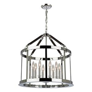 Artcraft Lighting Dover 25-in Chrome/Brown 8-Light Chandelier