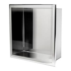 ALFI Brand 12-in x 12-in Stainless Steel Square Single Shelf Bath Shower Niche