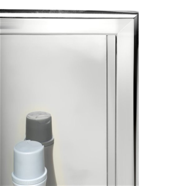 ALFI Brand 16-in x 16-in Stainless Steel Square Single Shelf Bath Shower Niche