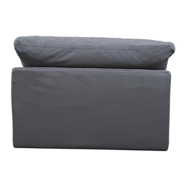 Sunset Trading Cloud Puff Gray Performance Fabric Slipcover for Sofa Sectional Modular Chair