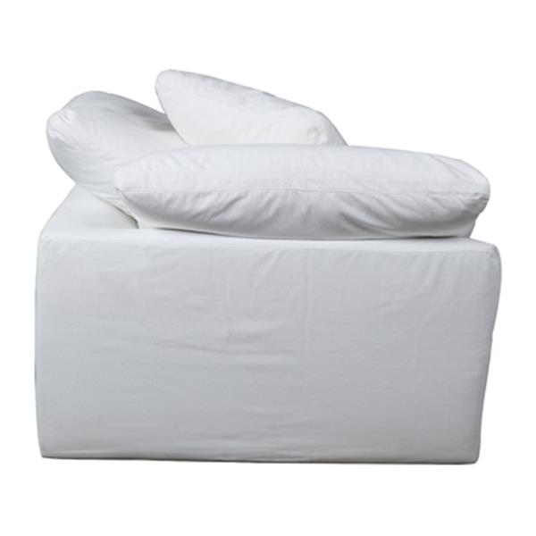 Sunset Trading Cloud Puff White Performance Fabric Slipcover for Sofa Sectional Modular Arm Chair