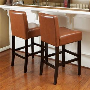 Tabourets de Bar Home Decor, Brun, Ensemble de 2