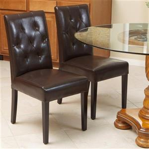 Chaise de salle à manger Gentry, Brun, Ensemble de 2