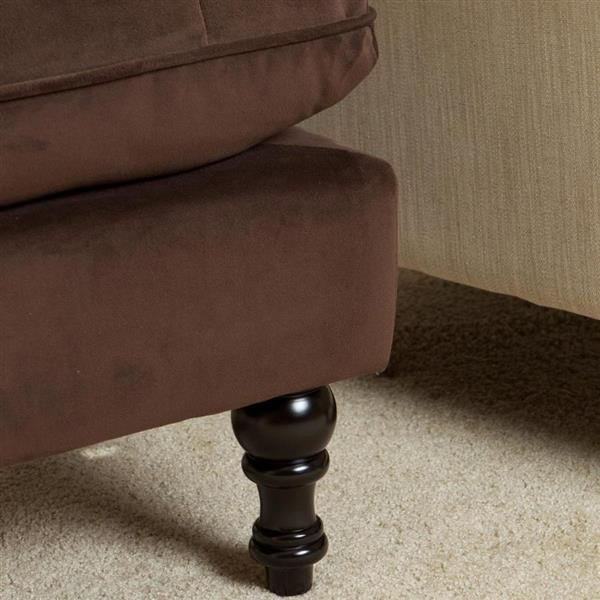 Best Selling Home Decor Jeremy Casual Brown Velvet Storage Ottoman
