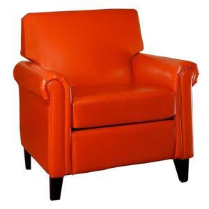 Fauteuil club Lennox de Home Decor, Orange brûlé