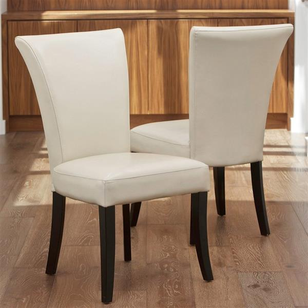 Best Selling Home Decor Set Of 2 Stanford Ivory Side Chairs