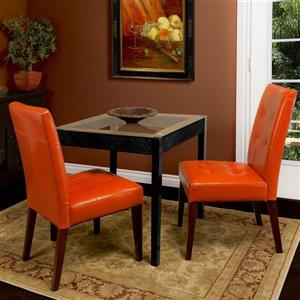 Best Selling Home Decor Bronson Burnt Orange Side Chair