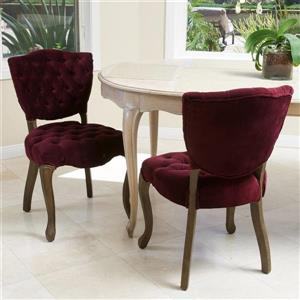 Best Selling Home Decor Set of 2 Bates Traditional Dark Purple Side Chairs