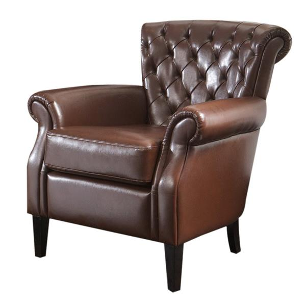 Best Selling Home Decor Franklin Chocolate Faux Leather Club Chair