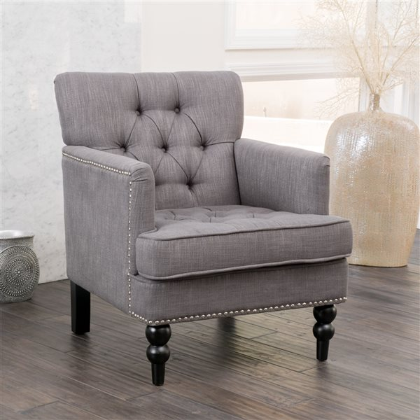Best Selling Home Decor Malone Vintage Charcoal Club Chair