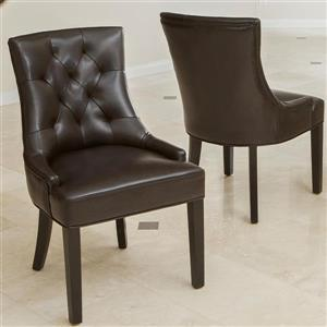 Best Selling Home Decor Set of 2 Hayden Brown Side Chairs