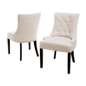 Best Selling Home Decor Set of 2 Hayden Traditional Beige Side Chairs