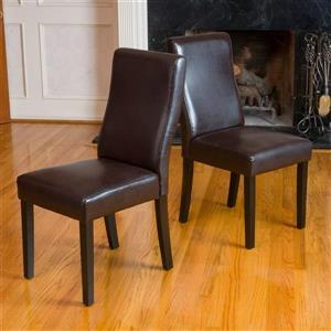 Best Selling Home Decor Set of 2 Corbin Brown Side Chairs