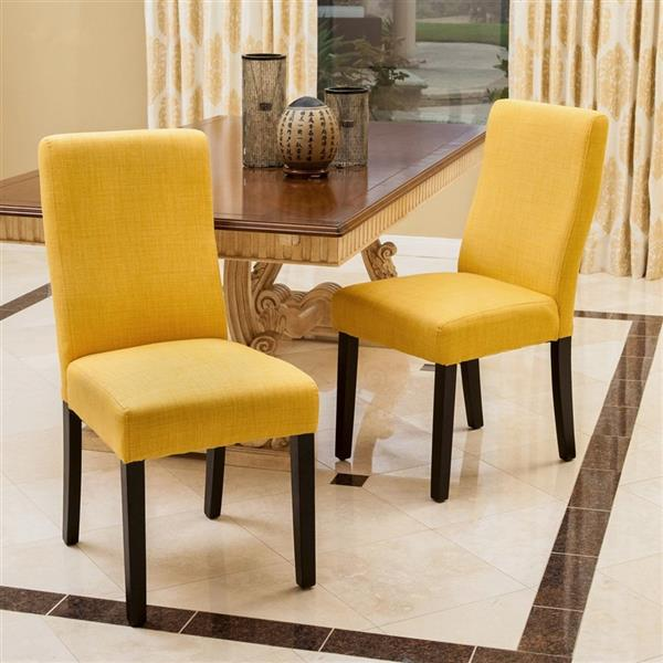 Best Selling Home Decor Set Of 2 Corbin Apricot Side Chairs