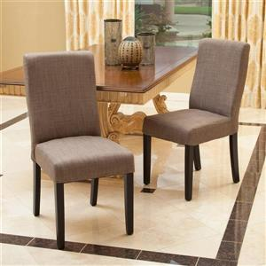 Best Selling Home Decor Set of 2 Corbin Taupe Side Chairs