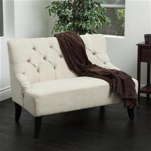 Best Selling Home Decor Nicole Casual Light Beige Settee