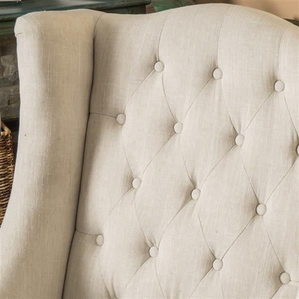 Best Selling Home Decor Toddman Light Beige Polyester Blend Accent Chair