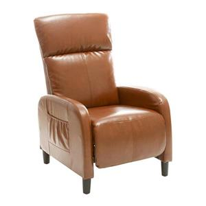 Best Selling Home Decor Stratton Tan Bonded Leather Recliner