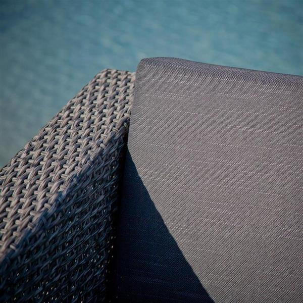 Ensemble de conversation 4 pièces Puerta, gris/noir
