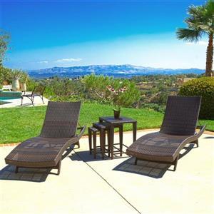 Best Selling Home Decor 5-Piece Wicker Frame Patio Conversation Set