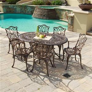 Home Decor Haitian Outdoor Dining Set - 7-Piece