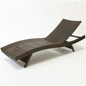 Chaise longue Home Decor en osier pour l'extérieur, Brun