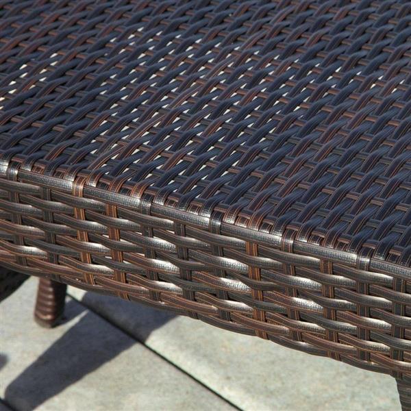 """Table d'appoint pour le patio, Brun, 15.75""""x 23.62"""""""