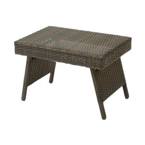 Table d'appoint pour le patio, Brun, 15.75