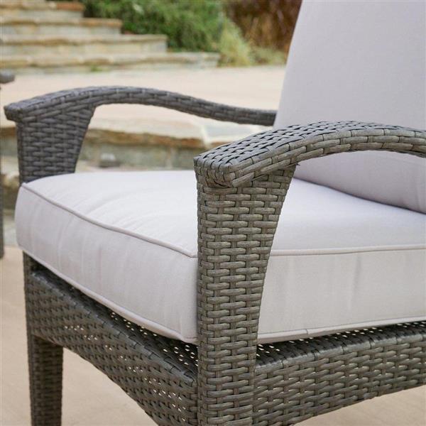 Best Selling Home Decor Honolulu Outdoor Conversation Set - Wicker - Grey