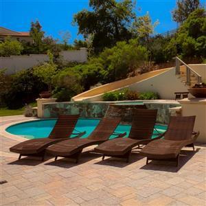 Toscana Outdoor 4-Piece Lounge Set - Wicker - Brown