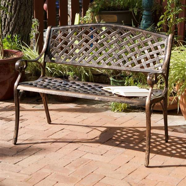 Banc de parc Cozumel, Bronze antique, 40""