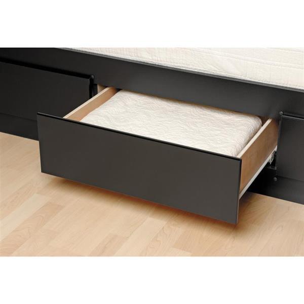 Prepac Mate's Black King Platform Bed with Storage
