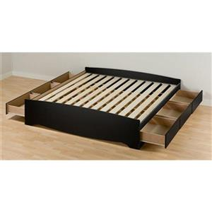 Prepac Mate's Black King Platform Bed with Storage