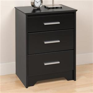 Prepac Coal Harbor Black Nightstand