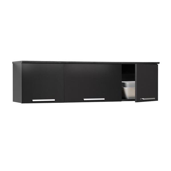 Prepac Coal Harbor Black 3-Shelf Office Cabinet