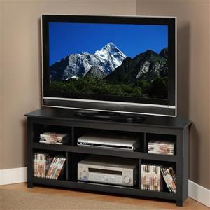 Prepac Vasari Black Corner TV Stand