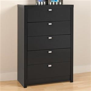 Prepac Series 9 Black 5-Drawer  Chest