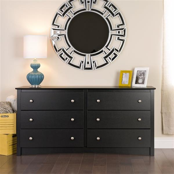 Prepac Sonoma Black 6-Drawer Dresser