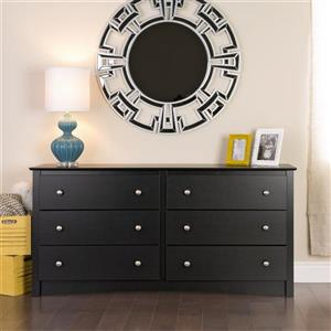 Prepac Sonoma Black 6-Drawer Dresser
