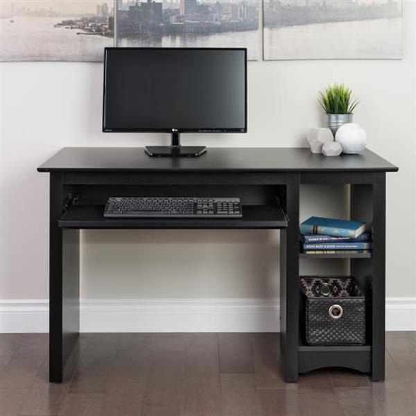 Prepac Contemporary Black Computer Desk