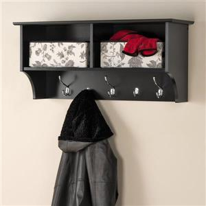 Prepac Black 5-Hook Wall Mounted Coat Rack